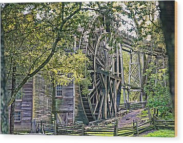 Wood Print featuring the photograph Old Wooden Mill by Kim Wilson