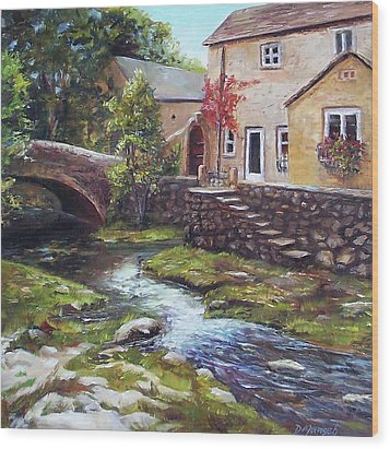 Old World Cottage Wood Print by Donna Munsch