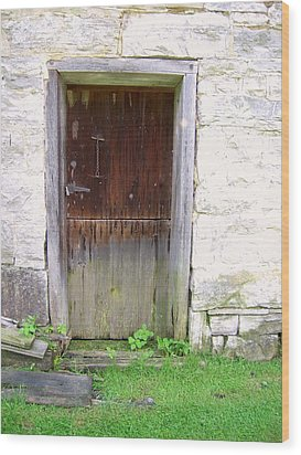 Old Yingling Flour Mill Door Wood Print