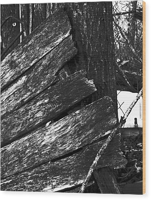 Olddoornextdoor16-18 Wood Print by Curtis J Neeley Jr