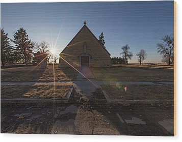 Wood Print featuring the photograph Oldham, Sd by Aaron J Groen