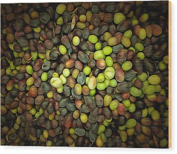 Olive Art Wood Print by Dorothy Berry-Lound