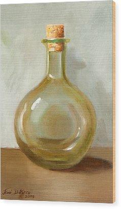 Olive Oil Bottle Still Life  Wood Print by Joni Dipirro