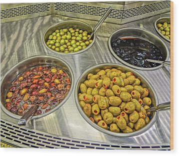 Olives Wood Print by Bruce Iorio