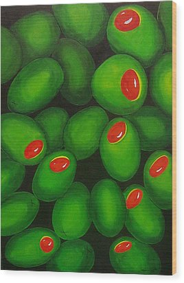 Olives Wood Print by Micah  Guenther