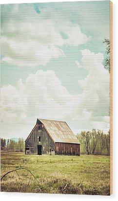 Olsen Barn In Green Wood Print
