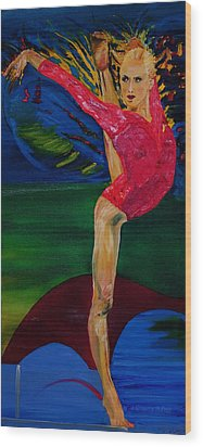 Olympic Gymnast Nastia Liukin  Wood Print by Gregory Allen Page