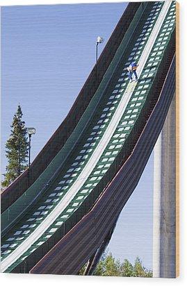 Olympic Ski Jump Training Wood Print