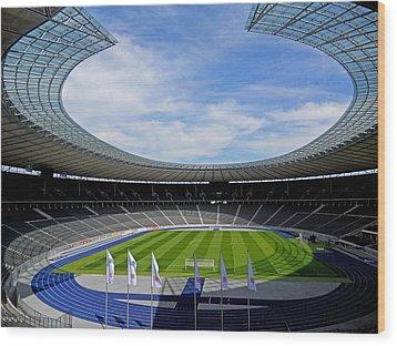 Olympic Stadium Berlin Wood Print by Juergen Weiss