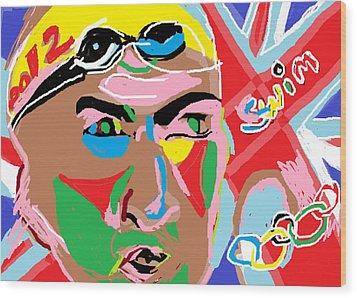 Olympics 2012 Swim Wood Print