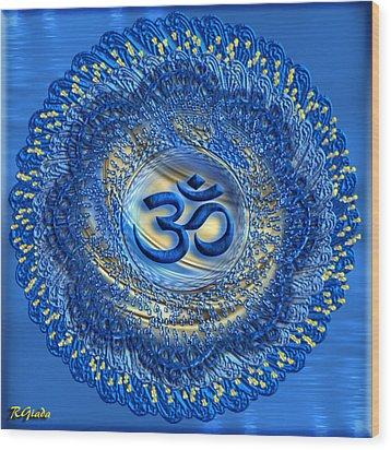 Om Mandala Wood Print