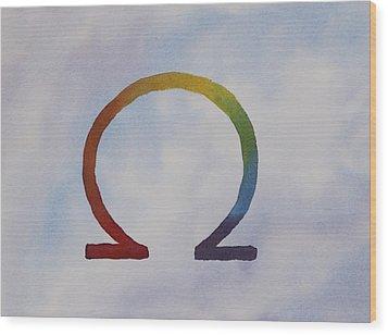 Omega Rainbow Wood Print by Debbie Homewood