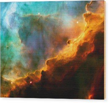 Omega Swan Nebula 3 Wood Print by Jennifer Rondinelli Reilly - Fine Art Photography