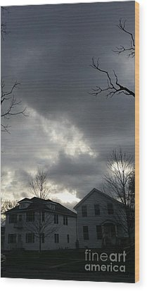 Ominous Clouds Wood Print by Diamante Lavendar
