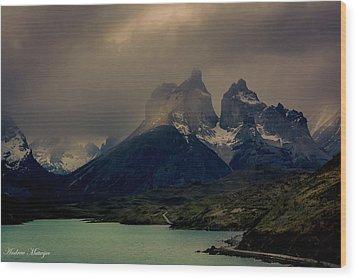 Ominous Peaks Wood Print by Andrew Matwijec