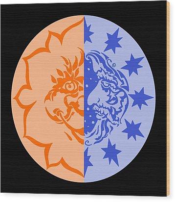 Omniscire Eclipse Logo Wood Print by Dawn Sperry