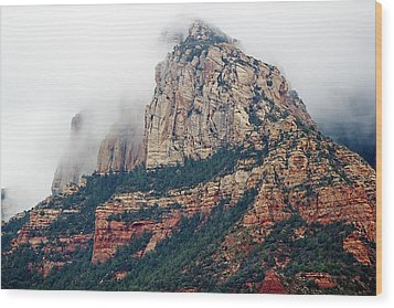 Wood Print featuring the photograph On A Misty Day by Phyllis Denton