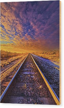 Wood Print featuring the photograph On A Train Bound For Nowhere by Phil Koch