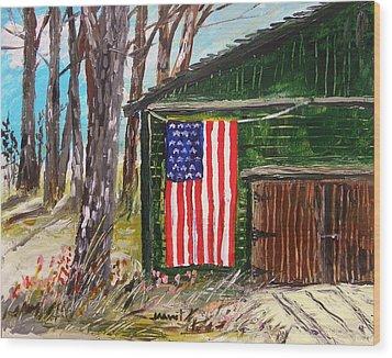 On A Veteran's Barn Wood Print by John Williams
