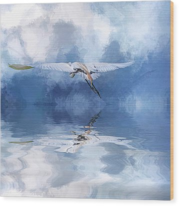 On A Wing And A Prayer Wood Print by Cyndy Doty