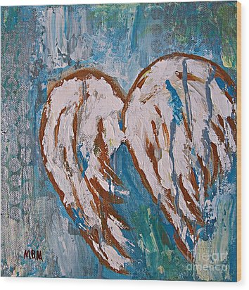 On Angel Wings Wood Print