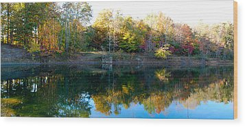 Wood Print featuring the photograph On Gober's Pond by Max Mullins