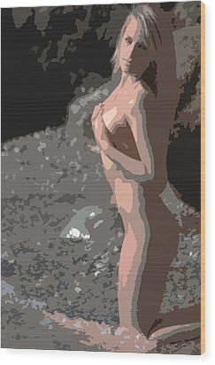 On Her Knees Wood Print by Brad Scott