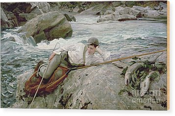 On His Holidays Wood Print by John Singer Sargent