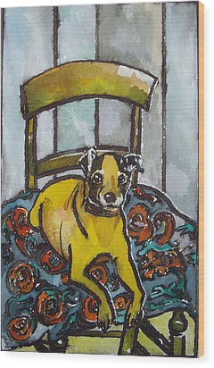 On His Masters Chair Wood Print by Victoria Glover