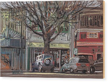 On Marietta Square Wood Print by Donald Maier