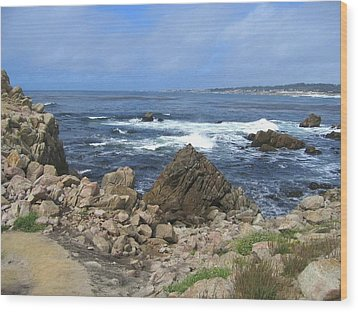Wood Print featuring the photograph On Monterey Bay Near Pebble Beach by Don Struke
