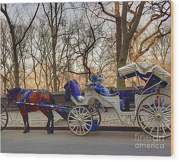 On My Bucket List Central Park Carriage Ride Wood Print