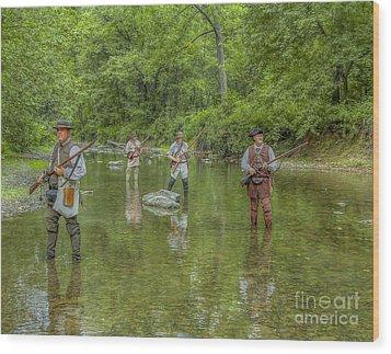 On Patrol With Wulff's Rangers Junita Crossing Wood Print by Randy Steele