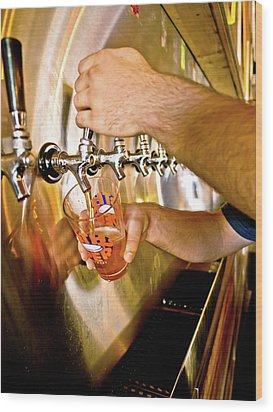 Wood Print featuring the photograph On Tap by Linda Unger
