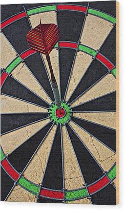 On Target Bullseye Wood Print by Garry Gay