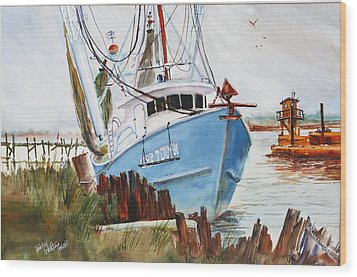 On The Back Bay Biloxi Wood Print