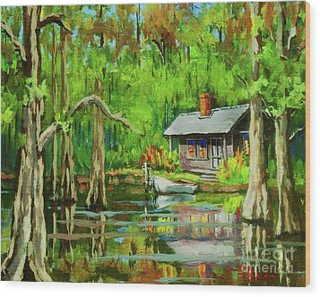 On The Bayou Wood Print by Dianne Parks