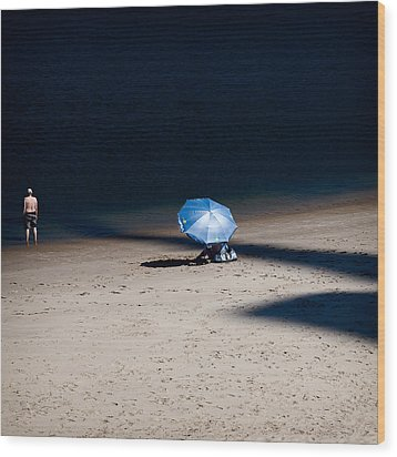 On The Beach Wood Print by Dave Bowman