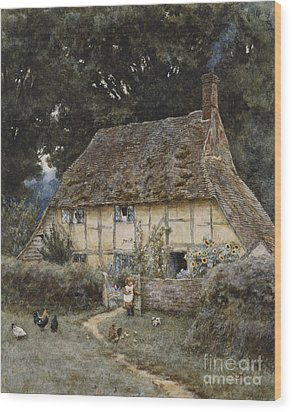 On The Brook Road Near Witley Wood Print by Helen Allingham