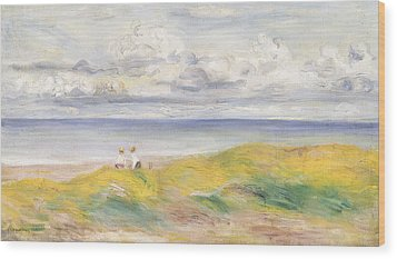 On The Cliffs Wood Print by Pierre Auguste Renoir