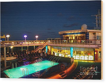 On The Cruise Wood Print by Cesar Marino