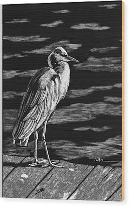 On The Dock In The Bay Wood Print by Diane Cutter