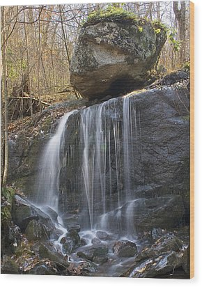Wood Print featuring the photograph On The Edge by Alan Raasch