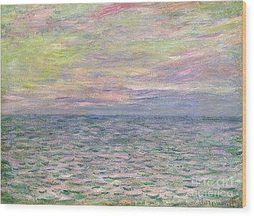On The High Seas Wood Print by Claude Monet