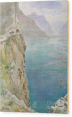 On The Italian Coast Wood Print by Harry Goodwin