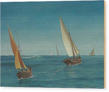 On The Mediterranean  Wood Print by Albert Bierstadt
