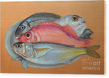 On The Platter Wood Print by Jasna Dragun