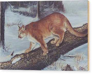 On The Prowl Wood Print by Lynne Parker