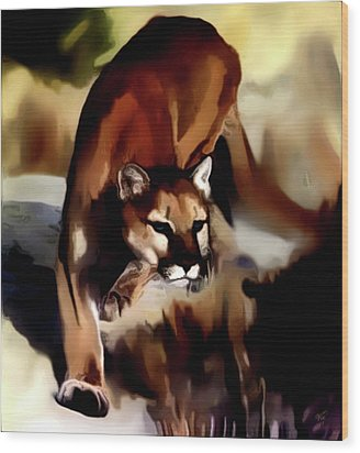 On The Prowl Wood Print by Vic Weiford