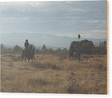 On The Range Wood Print by Janey Loree